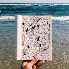 Summer sketchbook (@moniiqwa)!