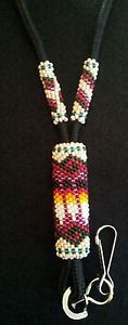native american beaded lanyards | Details about NATIVE AMERICAN BEADED LANYARD, must c...