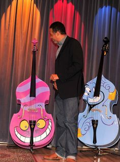 Stanley Clarke Musician Stanley Clarke attends Disney's and The Grammy Foundation's unveiling of 5 unique hand painted upright basses design...