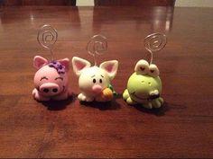 (8) Portanotas de Animales / Animals Card Holders (Porcelana fria/ Cold Porcelain) - YouTube