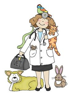 Free Dearie Dolls Digi Stamps: As requested. Vet Tech Quotes, Dachshund, Vet Med, Image Digital, English Fun, Cute Polymer Clay, Veterinary Medicine, Digi Stamps, Baby Animals