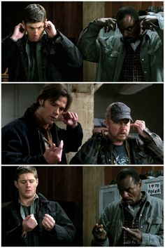 """I love how Dean kinda looked at his fingers like, """"when is the last time I cleaned my ears?"""""""