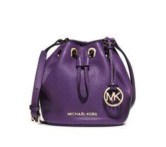 MICHAEL Michael Kors Jules Drawstring Crossbody  Bucket Bag in Violet