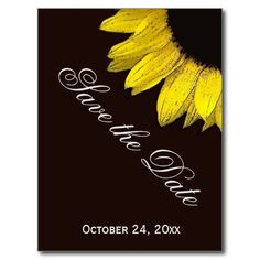 Bright and Cheerful Yellow Sunflower Wedding A07A Postcard