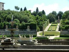 The Boboli Gardens, Palazzo Piti, Florence, Italy. A great place for picnicking!