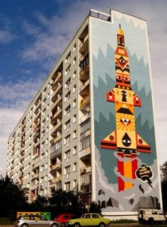 Urban mural in Poland