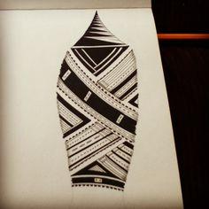 Polynesian Art. Samoan Tatau Designs.
