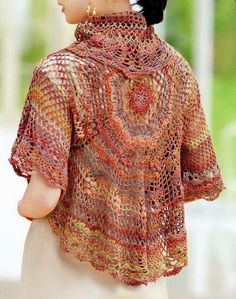Crochet Sweater: Crochet Bolero Jacket - Beautiful Lace