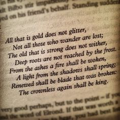Of Aragorn by Bilbo.