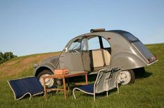 2 cv. lounge configuration... I've done the same, several time, in many places... with my yellow 2cv