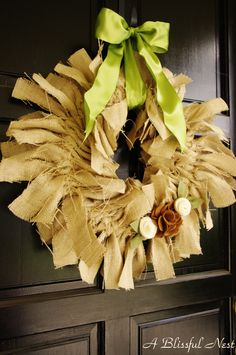 {Tutorial} Fall Burlap Wreath