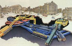 a lovely 3D cutaway illustration of Bank and Monument stations found via skyscrapercity