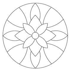 Instead of a mandala this would be a great stained glass pattern. Mandala Coloring Pages, Colouring Pages, Adult Coloring Pages, Mosaic Art, Mosaic Glass, Glass Art, Stained Glass Patterns, Mosaic Patterns, Chinese Patterns