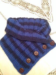 Een gebreide kol/sjaal