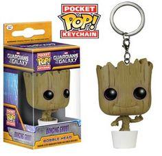 #POP #GuardiansOfTheGalaxy Dancing #Groot Vinyl Figure Pocket Keychain - Midtown Comics
