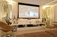Home theaters home theater design ti - hometheaters Salas Home Theater, Home Theater Setup, Best Home Theater, Home Theater Design, Home Theater Seating, Muebles Living, Home Theater Projectors, Living Room Tv, Tv Decor