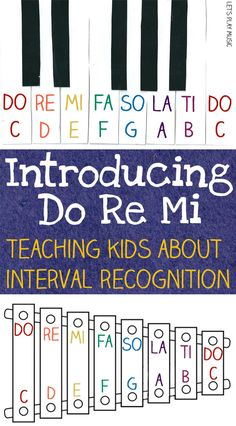 ( Music Unit: Scale/Pitch) Introducing Do Re Mi - Interval Recognition for Kids Music Theory Lessons, Music Lessons For Kids, Music Lesson Plans, Music For Kids, Good Music, Kindergarten Music Lessons, Elementary Music Lessons, Elementary Schools, Children Music
