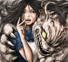 Tags: Anime, Alice in Wonderland, Cheshire Cat, American McGee's Alice, Alice (American McGee's), American McGee's Alice: Madness Returns, C... #Alice #ContesDefaits