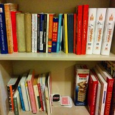 The #after. 44 left, 8 gone.  #konmari #bookshelf #declutter #minimalism