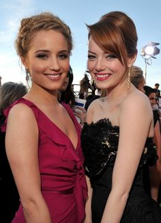 Dianna Agron & Emma Stone. Look at my Emma Stone´s board too.