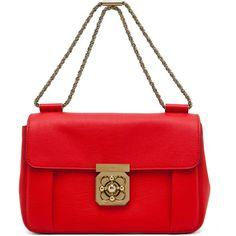Chloe Elsie Shoulder Bag in Fetish Red.