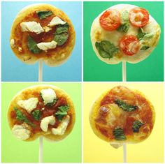 Pizza Lollipop by thedecoratedcookie