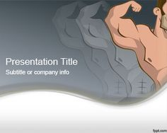 Muscular PowerPoint Template is a free PPT template with muscles that you can download for Microsoft PowerPoint presentations