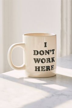 Shop ban.do I Don't Work Here Mug at Urban Outfitters today. We carry all the latest styles, colors and brands for you to choose from right here.