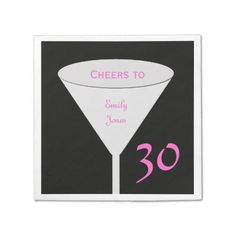 Shop Birthday Party Paper Napkins created by henishouseofpaper. 75th Birthday Parties, 60th Birthday Party, Custom Napkins, Personalized Napkins, Party Napkins, Cocktail Napkins, Cheer Party, Adulting, Cocktails