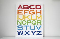 alphabet art for the playroom