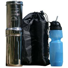 go kit includes stainless steel portable water filter system sport water