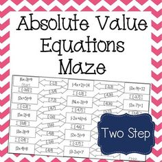 21 Best Absolute Value Equations Images On Pinterest Teaching