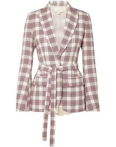 Antonio Berardi Organza-paneled Checked Wool Blazer In Cream Antonio Berardi, First Date Outfits, Club Outfits, Date Outfit Summer, Summer Outfits Women, Textiles, Silk Organza, Jackett, Ivoire