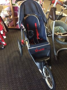 In step Jogging Stroller - Hit the trails or bikepath with this and In Step jogging stroller. Click on the link below to browse more items at LilyPads - $125.00