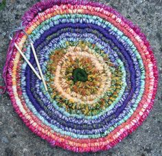 Weave a Spiral (Round) Rug or Wall Hanging with Weaving Sticks - instruction booklet - pattern for sale on Etsy