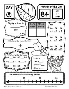 Place Value Worksheets Second Bundle Number of the Day