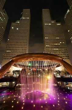 The Fountain of Wealth, the largest fountain in the world, is located within the commercial complex of Suntec City in Singapore. The fountain structure is made of bronze, and consists of a circular ring with a circumference of 66 metres supported on Awesome Pic! Check out this amazing video: http://www.empowernetwork.com/commissionloophole.php?id=michaelrochau