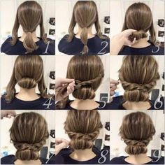 25 fast hairstyles for medium and long hair for every day. lange haare schnelle 25 fast hairstyles for medium and long hair for every day. Up Dos For Medium Hair, Medium Hair Styles, Curly Hair Styles, Natural Hair Styles, Updos For Medium Length Hair Tutorial, Medium Hair Updo Easy, Easy Updos For Long Hair, Short Hair Updo Tutorial, Hairstyles For Medium Length Hair Easy