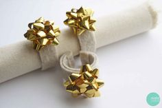 DIY: Easy Bow Napkin Rings