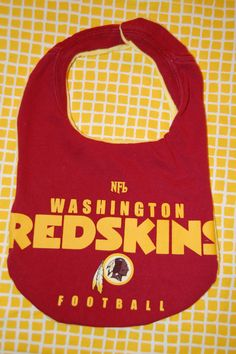 Washington Redskins Upcycled Tshirt Bib