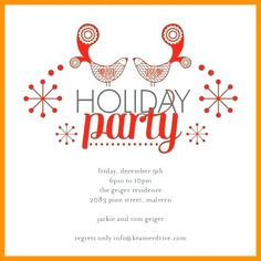 Holiday Party Invitations Templates