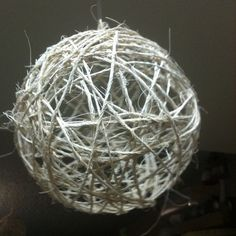Make twine balls: glue twine to a balloon and pop!  Add twinkle lights!  Perhaps use brown twine?