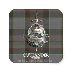 Outlander | The Fraser Brooch Square Sticker - How about this cool TV series period piece Outlander? Gotta love it. #outlander #outlanderstarz #outlanderseries #outlanderfan #tvshows #tvseries #starz #giftideas #gift #giftsfordad #giftsforher Outlander Clothing, Caitriona Balfe Outlander, Drums Of Autumn, Stag Deer, Outlander Tv Series, Candy Jars, Free Paper, Gifts For Dad, Flask