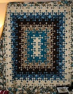Blooming Nine Patch: No Pattern  I see me crocheting a beautiful rug.