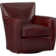 Streeter Leather Swivel Chair    Crate and Barrel (I like this chair) 33Wx34Dx35H