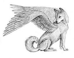 Winged Wolf Lineart T | Wolf with wings | Wolf colors ...