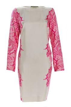 By Malene Birger Paisley Dress Neon Pink  http://www.the-editeur.com/By-Malene-Birger/