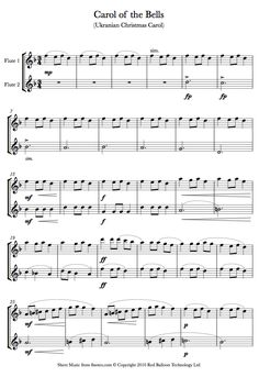 Carol of the Bells sheet music for Flute Duet                                                                                                                                                                                 More