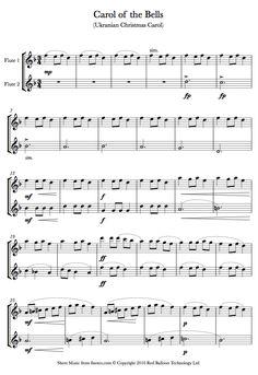 Carol of the Bells sheet music for Flute Duet