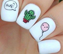 Inspiring image balloon, cactus, nail art, nails #3542051 by marine21 - Resolution 399x366px - Find the image to your taste